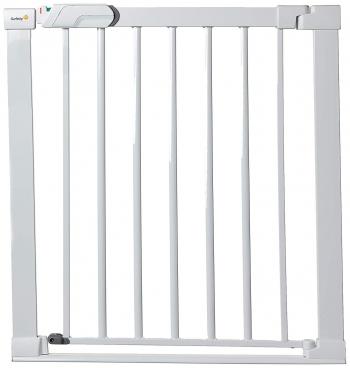 Металлический барьер-калитка Safety 1st FLAT STEP без порожка (73-80 см) цвет белый