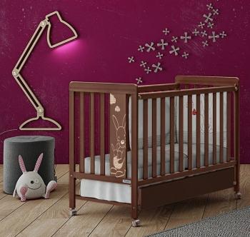 Детская кроватка Micuna Kangaroo Chocolate (120х60) + Матрас СН-620