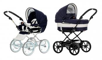 Детская коляска 2 в 1 Emmaljunga Mondial De Luxe (шасси City Black)