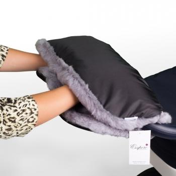 Муфта для рук на коляску Esspero Solana (Натуральная шерсть)