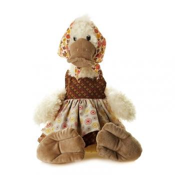 Мягкая игрушка Maxi Toys Утка Боня в Одежде Сидит 37 см