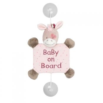 Знак автомобильный Nattou Baby on board Nina, Jade Lili