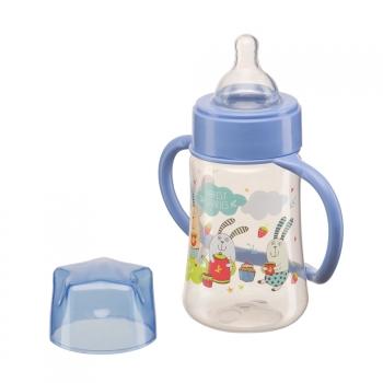 Бутылочка с ручками и силиконовой соской Happy Baby (250 мл)