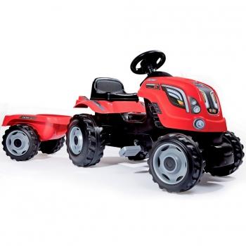Трактор педальный Smoby XL с прицепом