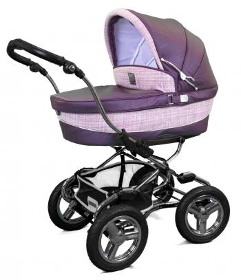 Коляска для новорожденных Bebecar Stylo AT Chrome Leather (Кожа)