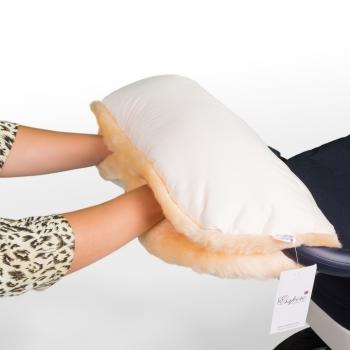 Муфта для рук на коляску Esspero Diaz (Натуральная шерсть)