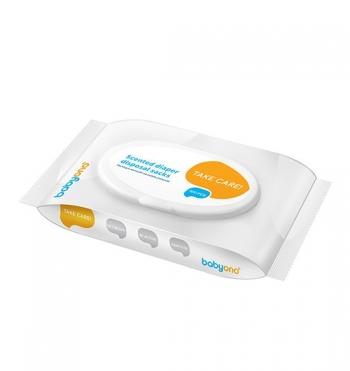 Ароматизированные пакеты для утилизации использованных подгузников BabyOno (100шт. в уп.)