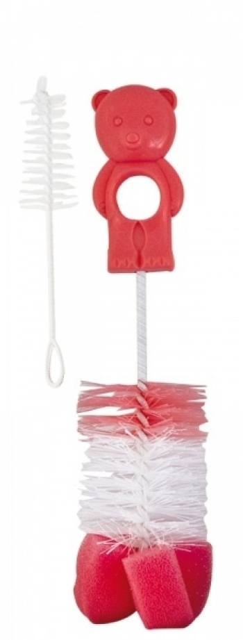 Ершик для мытья бутылочек и сосок с губкой Canpol арт. 2/410